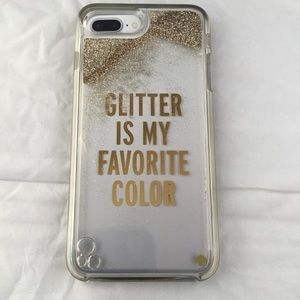 Kate Spade Liquid Glitter iPhone 7+ Phone Case